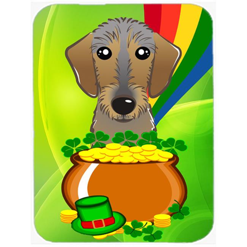 Carolines Treasures BB1977MP Wirehaired Dachshund St. Patricks Day Mouse Pad Hot Pad or Trivet