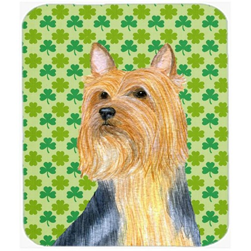Carolines Treasures LH9181MP Silky Terrier St. Patricks Day Shamrock Portrait Mouse Pad Hot Pad or Trivet