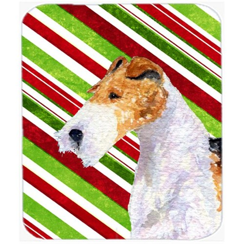 Carolines Treasures SS4547MP Fox Terrier Candy Cane Holiday Christmas Mouse Pad Hot Pad Or Trivet