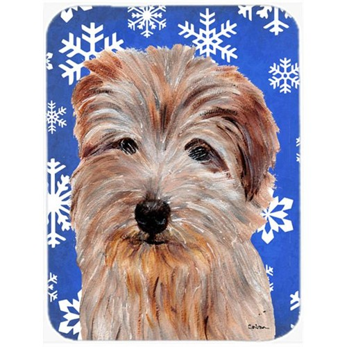 Carolines Treasures SC9784MP Norfolk Terrier Winter Snowflakes Mouse Pad Hot Pad Or Trivet 7.75 x 9.25 In.