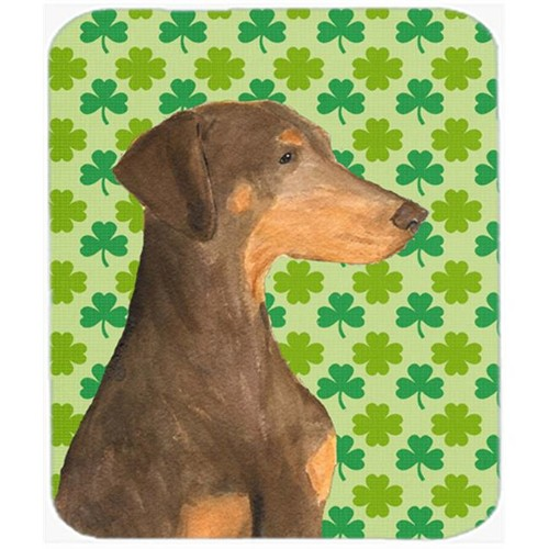 Carolines Treasures SS4410MP Doberman St. Patricks Day Shamrock Portrait Mouse Pad Hot Pad Or Trivet