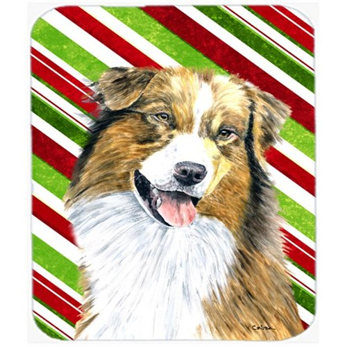 Carolines Treasures SC9357MP Australian Shepherd Candy Cane Holiday Christmas Mouse Pad Hot Pad or Trivet