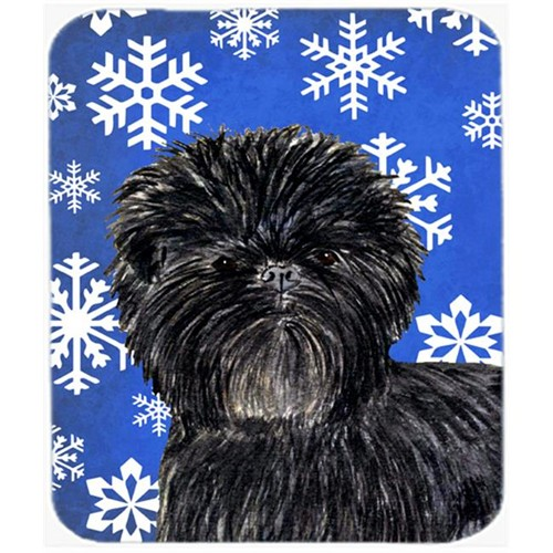Carolines Treasures SS4649MP Affenpinscher Winter Snowflakes Holiday Mouse Pad Hot Pad or Trivet