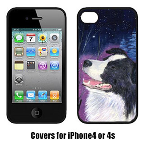 Carolines Treasures SS8369IP4 Starry Night Border Collie Cell Phone cover IPhone 4