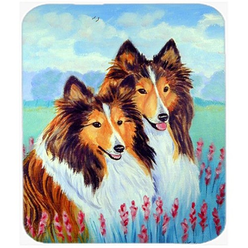 Carolines Treasures 7086MP 9.5 x 8 in. Two Sable Shelties Mouse Pad Hot Pad or Trivet