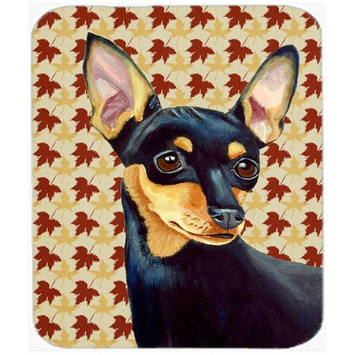 Carolines Treasures LH9110MP Min Pin Fall Leaves Portrait Mouse Pad Hot Pad or Trivet