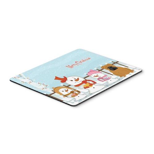 Carolines Treasures BB2453MP Merry Christmas Carolers English Bulldog Red Mouse Pad Hot Pad or Trivet