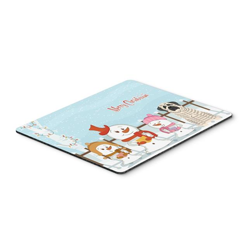 Carolines Treasures BB2347MP Merry Christmas Carolers Mastiff Brindle White Mouse Pad Hot Pad or Trivet