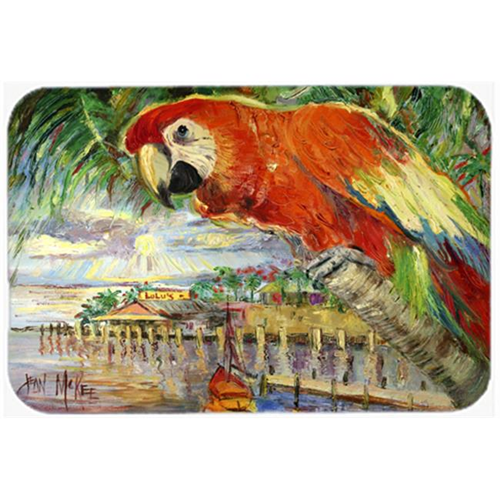 Carolines Treasures JMK1134MP Red Parrot At Lulus Mouse Pad Hot Pad & Trivet