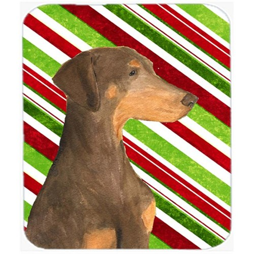 Carolines Treasures SS4548MP Doberman Candy Cane Holiday Christmas Mouse Pad Hot Pad Or Trivet