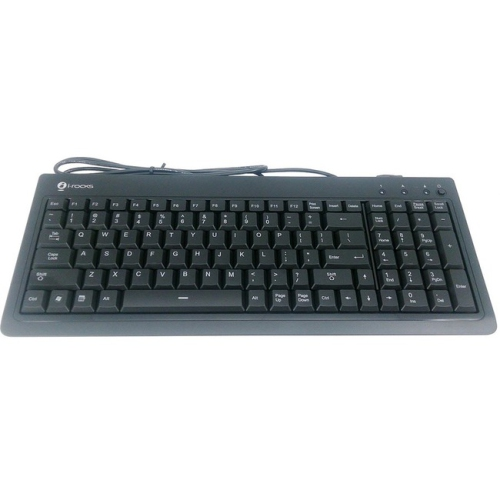 Irocks Gaming Keyboard 104 Key USB Wired - Black - KR6820EBK