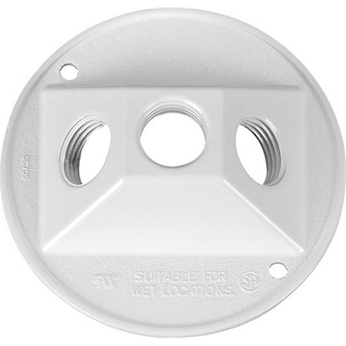 Sigma 14383WH 4.25 in. White Round Weatherproof Outlet Box Cover