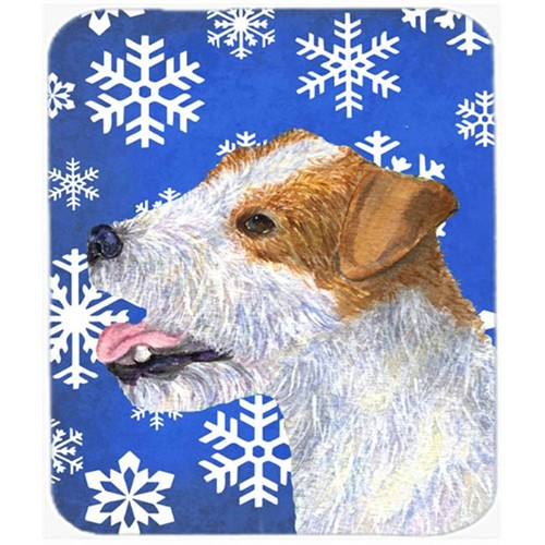 Carolines Treasures SS4642MP Jack Russell Terrier Winter Snowflakes Holiday Mouse Pad Hot Pad or Trivet