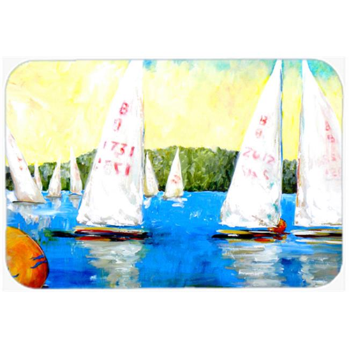 Carolines Treasures MW1094MP Sailboats Round the Mark Mouse Pad Hot Pad or Trivet