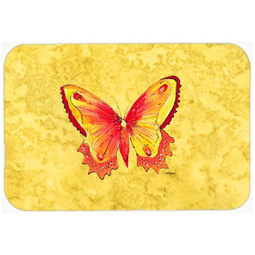 Carolines Treasures 8857MP Butterfly on Yellow Mouse Pad Hot Pad or Trivet