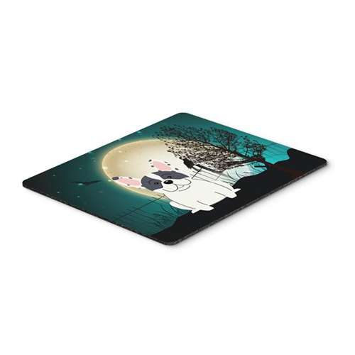 Carolines Treasures BB2201MP Halloween Scary French Bulldog Piebald Mouse Pad Hot Pad or Trivet