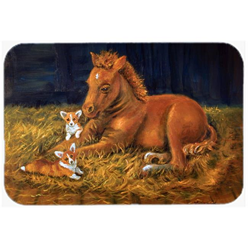 Carolines Treasures 7329MP Corgi Sunrise With Colt Mouse Pad Hot Pad & Trivet
