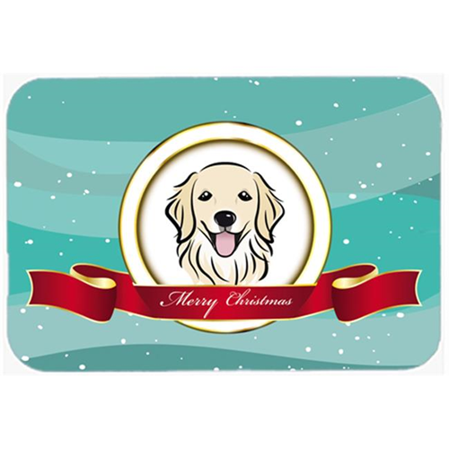 Carolines Treasures BB1515MP Golden Retriever Merry Christmas Mouse Pad Hot Pad & Trivet