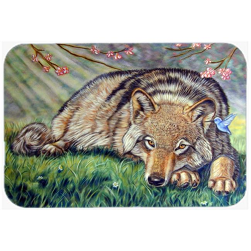 Carolines Treasures 7356MP Wolf And Hummingbird Mouse Pad Hot Pad & Trivet