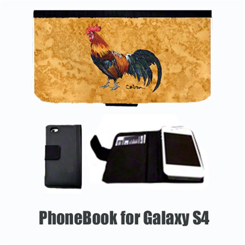 Carolines Treasures 8651-NBGALAXYS4 Rooster Bird Cell Phonebook Cell Phone Case Cover For Galaxy 4S