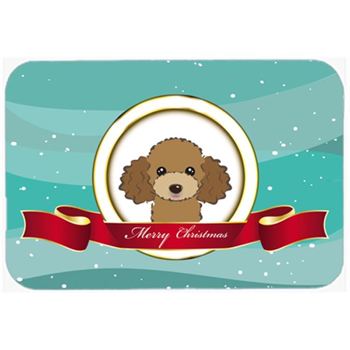 Carolines Treasures BB1566MP Chocolate Brown Poodle Merry Christmas Mouse Pad Hot Pad & Trivet