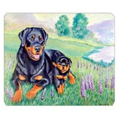 Carolines Treasures 7141MP 8 x 9.5 in. Rottweiler Mouse Pad Hot Pad Or Trivet