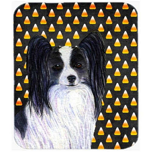 Carolines Treasures SS4298MP Papillon Candy Corn Halloween Portrait Mouse Pad Hot Pad Or Trivet