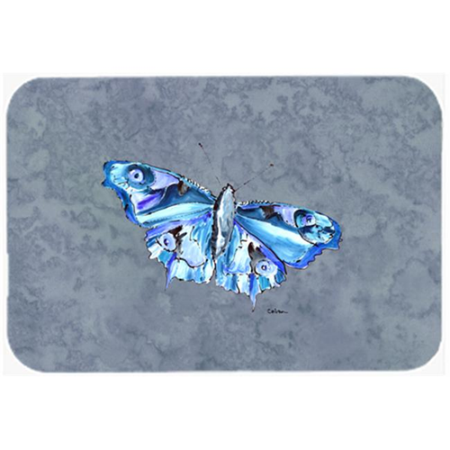 Carolines Treasures 8856MP Butterfly on Gray Mouse Pad Hot Pad or Trivet