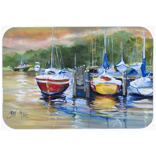 Carolines Treasures JMK1086MP Up The Creek Sailboat Mouse Pad Hot Pad & Trivet