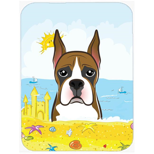 Carolines Treasures BB2091MP Boxer Summer Beach Mouse Pad Hot Pad or Trivet
