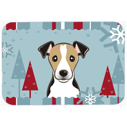 Carolines Treasures BB1757MP Winter Holiday Jack Russell Terrier Mouse Pad Hot Pad & Trivet