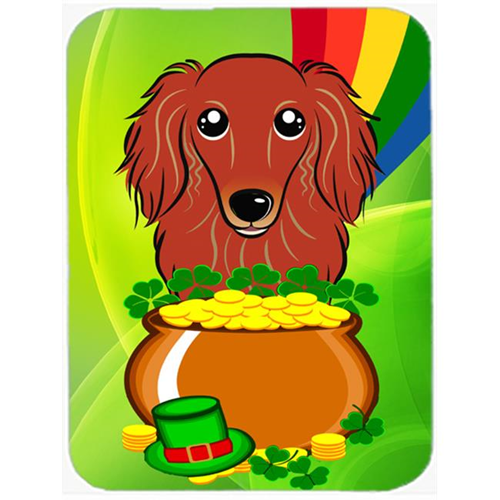 Carolines Treasures BB1958MP Longhair Red Dachshund St. Patricks Day Mouse Pad Hot Pad or Trivet