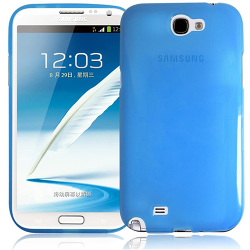 RND Accessories TPU Protective Case For Samsung Galaxy Note II - Transparent Blue