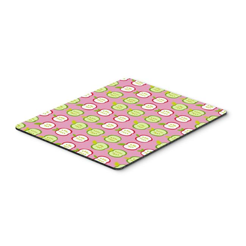 Carolines Treasures BB5141MP Apples on Pink Mouse Pad Hot Pad or Trivet