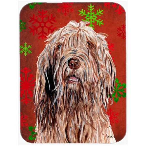 Carolines Treasures SC9757MP Otterhound Red Snowflakes Holiday Mouse Pad Hot Pad Or Trivet 7.75 x 9.25 In.