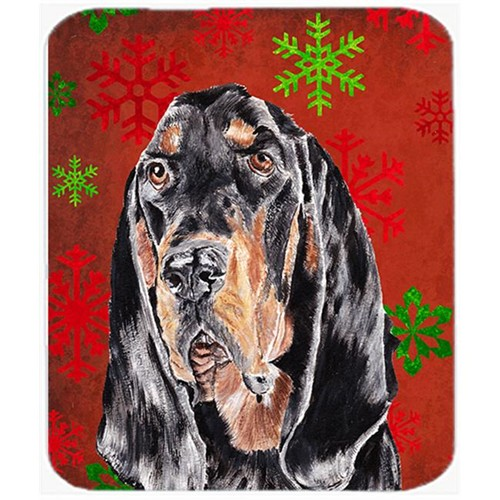 Carolines Treasures SC9581MP 7.75 x 9.25 in. Coonhound Red Snowflake Christmas Mouse Pad Hot Pad or Trivet