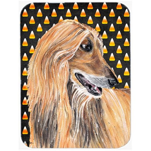 Carolines Treasures SC9505MP 7.75 x 9.25 In. Afghan Hound Candy Corn Halloween Mouse Pad Hot Pad Or Trivet