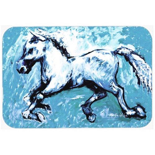 Carolines Treasures MW1171MP Shadow the Horse in blue Mouse Pad Hot Pad or Trivet
