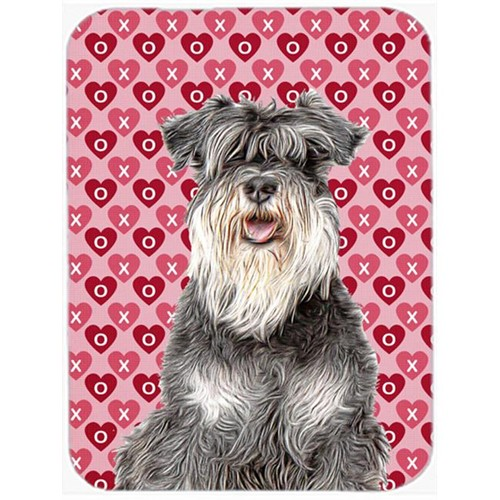 Carolines Treasures KJ1192MP Hearts Love and Valentines Day Schnauzer Mouse Pad Hot Pad or Trivet