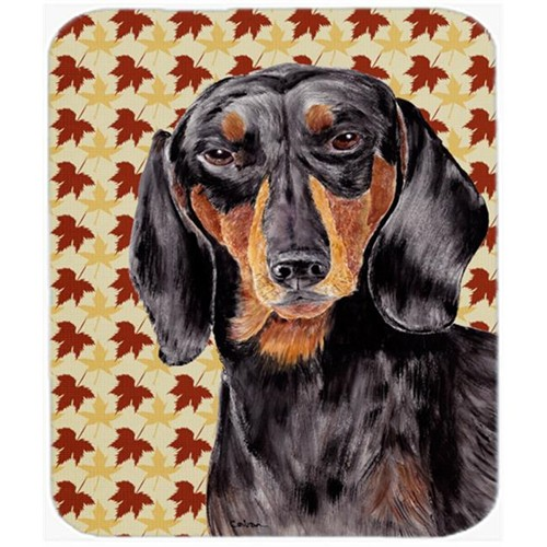 Carolines Treasures SC9203MP Dachshund Fall Leaves Portrait Mouse Pad Hot Pad or Trivet