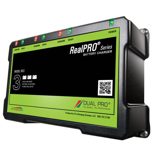Dual Pro RealPRO Series Battery Charger 12A 2-6A-Banks 12V//24V