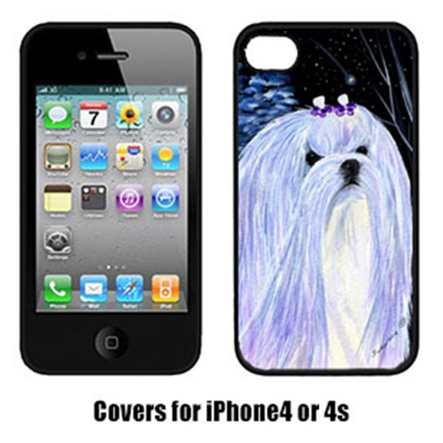 Carolines Treasures SS8378IP4 Starry Night Maltese Cell Phone cover IPhone 4