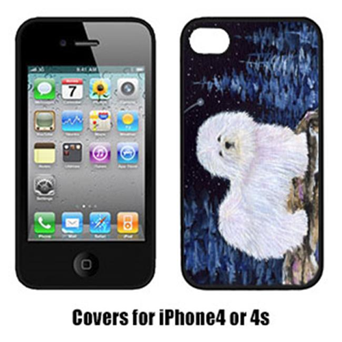Carolines Treasures SS8437IP4 Starry Night Coton De Tulear Cell Phone Cover Iphone 4