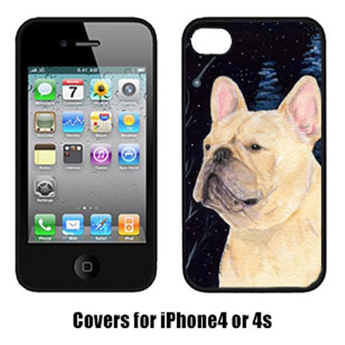 Carolines Treasures SS8441IP4 Starry Night French Bulldog Cell Phone Cover Iphone 4