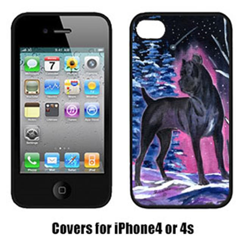 Carolines Treasures SS8410IP4 Starry Night Cane Corso Cell Phone Cover Iphone4
