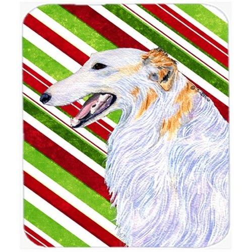 Carolines Treasures SS4544MP Borzoi Candy Cane Holiday Christmas Mouse Pad Hot Pad Or Trivet