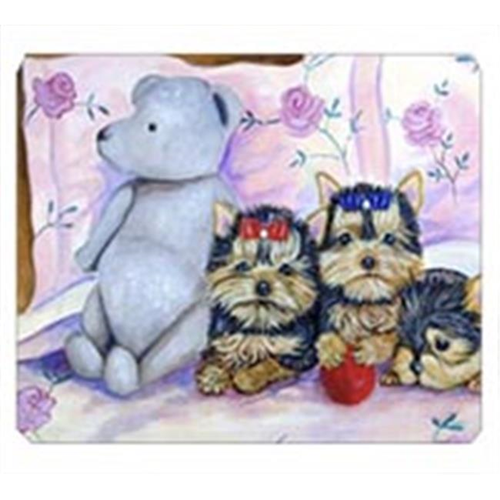 Carolines Treasures 7192MP 8 x 9.5 in. Yorkie Puppies Three in a Row Mouse Pad Hot Pad or Trivet