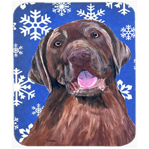 Carolines Treasures SC9384MP Labrador Winter Snowflakes Holiday Mouse Pad Hot Pad or Trivet