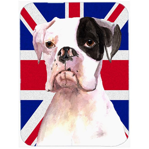 Carolines Treasures RDR3030MP 7.75 x 9.25 In. Boxer Cooper with English Union Jack British Flag Mouse Pad Hot Pad or Trivet