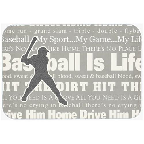 Carolines Treasures SB3078MP 7.75 x 9.25 In. Baseball Is Life Mouse Pad Hot Pad Or Trivet